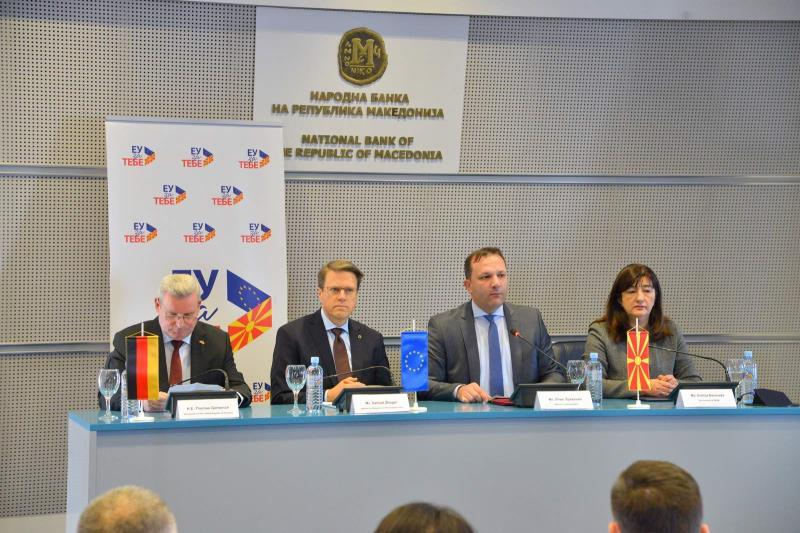 """Во НБРМ се одржа Твининг лајт проектот: """"Јакнење на капацитетите на системот за борба против фалсификување евра"""""""